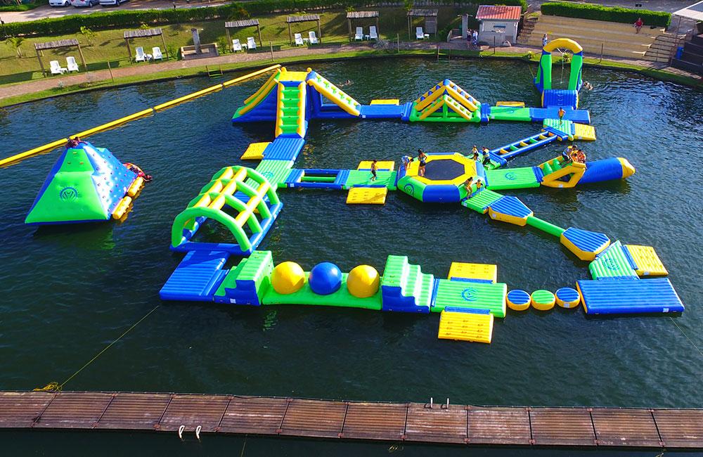 Parque Aquático de infláveis Drone